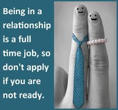relationships are work